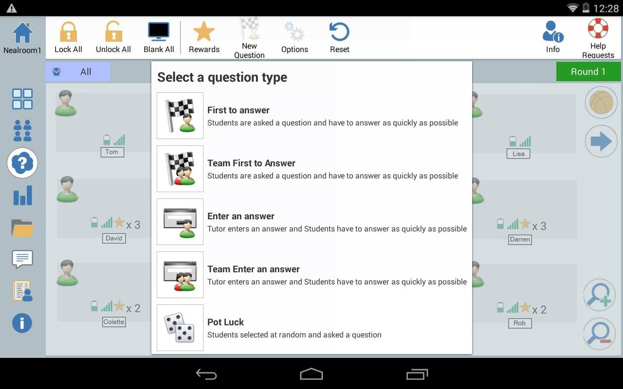 Android Tutor: Q and A Mode – introduce different questioning styles