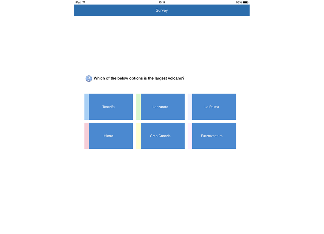 iOS Student: Participate in class surveys