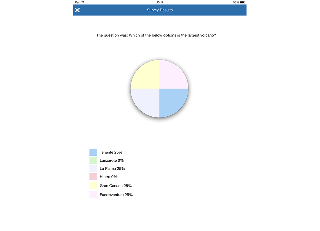 iOS Student: Show survey results