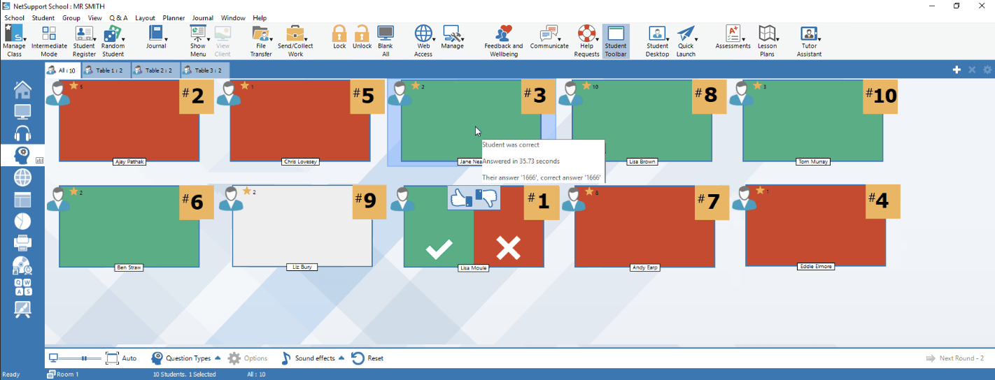 Assess and test students screens